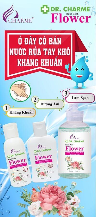 bán nước rửa tay khô kháng khuẩn Dr Charme