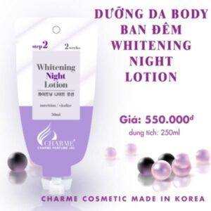 Dưỡng da Body ban đêm Whitening Night Lotion 250ml