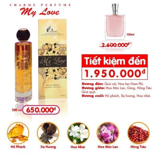 Nước hoa Charme My Love 100ml
