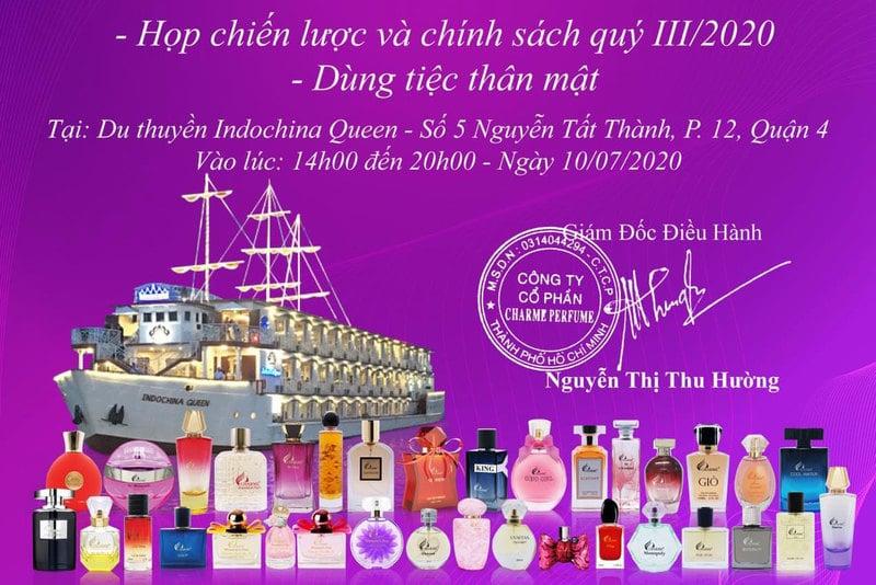 PunHuynh Tham Dự Họp Hệ Thống Charme Quý III/2020 Trên Du Thuyền Indochina Queen