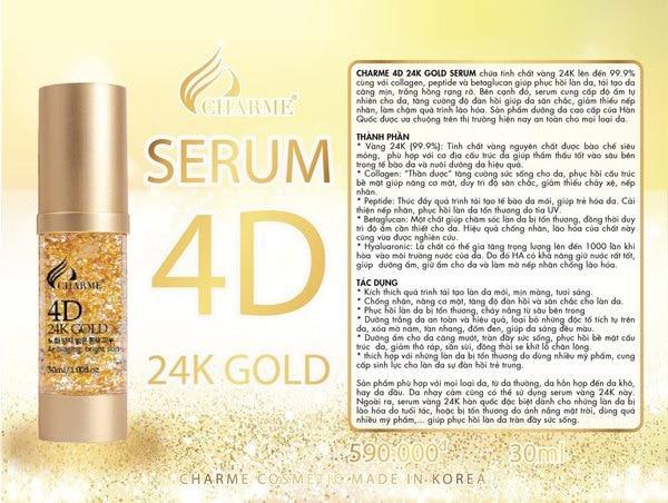 Giới thiệu Serum Charme 4D Vàng 24k 30ml