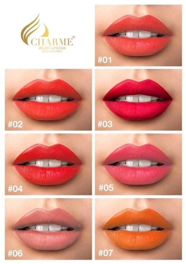 Review Son sáp Charme Velvet Lipstick Hàn Quốc chính hãng không chì